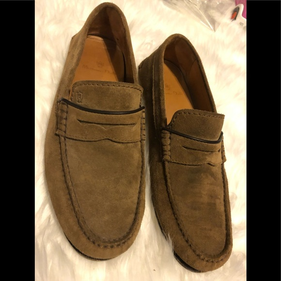 729c9897306 Massimo Dutti Brown Suede Men Shoes Penny Loafers.  M 5c32481a3e0caa0aac8780f8